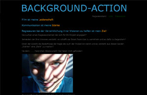 Background-Action Regieassistenz Website