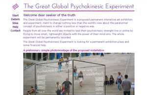 The great global psychokinesic experiment